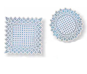 Filigran-Papierdeckchen, weiss, rund