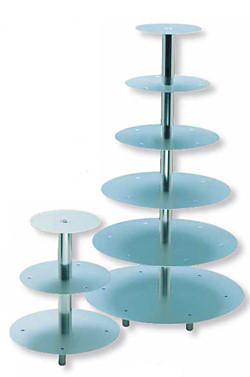 Tortenständer silber mit 8 Etagen, sehr stabile Ausführung