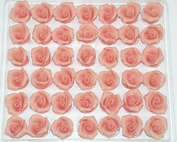 Marzipan-Rosen, klein, lachs
