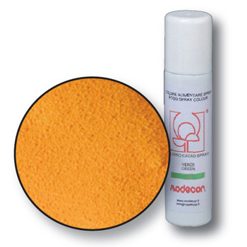 Lebensmittelfarbspray mit Samteffekt, orange