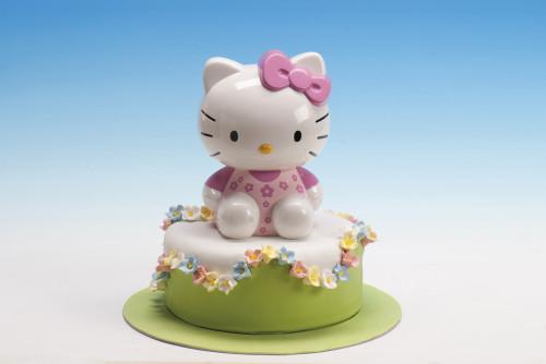 Hello Kitty Spardose mit Drehverschluss, Kunststoff, im Display