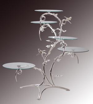 Tortenständer exclusiver tortenständer mit 5 glasplatten 30134
