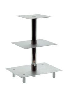 Stufen-Etagere mit 4 Platten, Plattenmaße 160x160/1