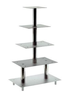Stufen-Etagere mit 5 Platten, Plattenmaße 160x160/1