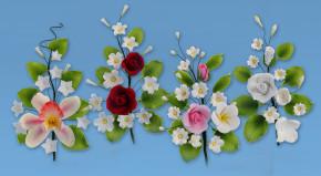 Tragant-Blumenbouquet, 4-fach sortiert, nicht essbar