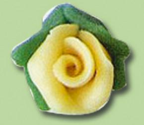 Marzipan-Rosenknospen, gelb