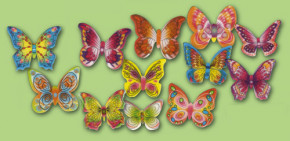 Waffel-Schmetterlinge, sortiert