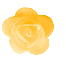 Waffel-Blumen, gelb