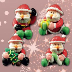 Marzipan-Weihnachtsmänner,  4-fach sortiert,  35 mm