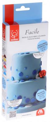 Modellierbarer Fondant, azurblau, zum Kunvertieren und zur Schaffung von 2D-Dekorationen