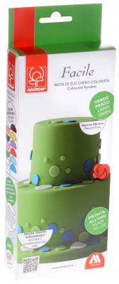 Modellierbarer Fondant, grün, zum Kunvertieren und zur Schaffung von 2D-Dekorationen