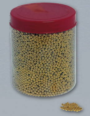 Goldperlen, 4mm, 1 kg