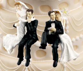 Brautpaar Kantenhocker, 2-fach sortiert