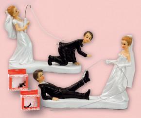 Lustiges Brautpaar, 2-fach sortiert, in dekorativer Verkaufsscha