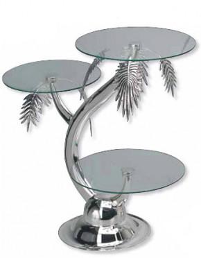 Exclusiver Tortenständer mit 3 Glasplatten