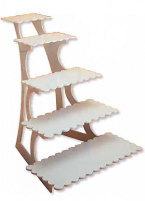 Stufen-Etagere mit 5 Platten aus langlebigem Kunststoff