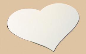 Herz-Tortenständer aus langlebigem Kunststoff, klein