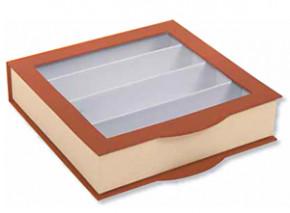 Pralinen-Verpackung mit Klarsicht- und Klappdeckel, für ca. 300g