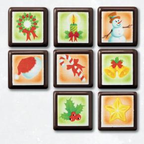Schoko-Ornament Quadrat, 8-fach sortiert