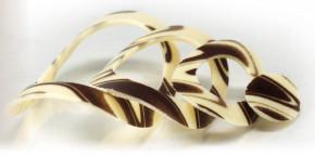 Schoko-Ringe, gebogen, 5-fach sortiert