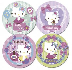 Waffel-Aufleger Hello Kitty, groß, 4-fach sortiert, 21cm, 12 Stück