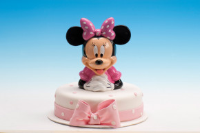 Minnie Spardose mit Drehverschluss, Kunststoff, im Display