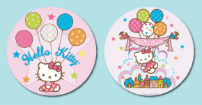 Waffel-Aufleger Hello Kitty, klein, 2-fach sortiert