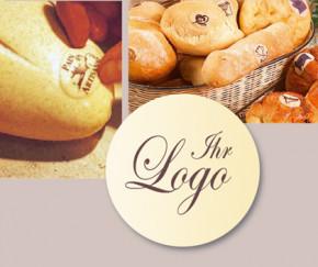 Waffel-Brotaufleger rund, mit Ihrem Namen oder Logo