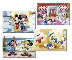 Waffel-Aufleger Mickey Mouse, 4-fach sortiert, 30x20cm, 12 Stück
