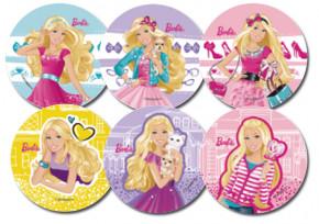 Waffel-Aufleger Barbie, 6-fach sortiert, 14,5cm, 27 Stück