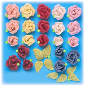 Marzipan-Rosen, klein, rosa