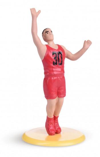 Torten-Deko-Kit Basketball, Kunststoff, 5-teilig, 5-15cm, 10 Set