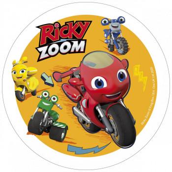 Waffel-Aufleger Ricky Zoom, 4-fach sortiert, 21cm, 12 Stück