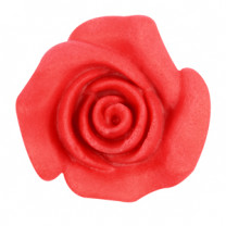 Rosen aus modellierbarer Zuckermasse, rot, 30mm, 48 Stück
