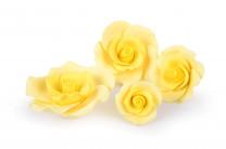 Zucker-Rosen, gelb, 17-teilig, 3x 88mm, 3x 65mm, 4x 55mm, 7x 40mm, glutenfrei, 1 Box
