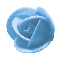 Waffel-Rosenknospe, blau, 42mm, 200 Stück