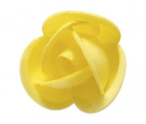 Waffel-Rosenknospe, gelb, 42mm, 200 Stück