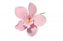 Tragant-Blumenbouquet Orchidee, rosa, nicht essbar, 11cm, 18 Stück