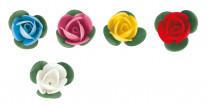 Waffel-Blumen mit Blättern, sortiert, 40mm, 200 Stück