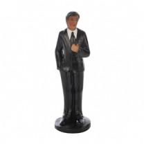 Bräutigam, die Figur ist einzeln und kann daher gut kombiniert , Polystone, 10,5cm, 4 Stück