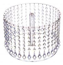 Exclusiver Tortenständer mit 1 Platte a 30cm, Kristall-Dekor, Acryl, zerlegt, 30x20cm, 1 Stück,