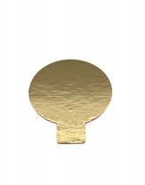 Tortenteller mit Grifflasche, Tortenunterlage, gold, 70mm, 100 Stück