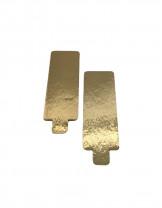 Tortenteller mit Grifflasche, Tortenunterlage, gold, 130x45mm, 100 Stück