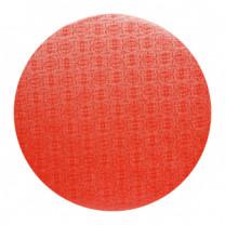 Tortenteller, Karton mit roter Folie beschichtet, 40cm, 12mm stark, 5 Stück