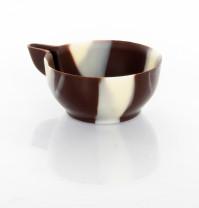 Schoko-Becher, marmoriert