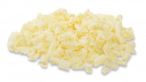 Schoko-Blüten, Locken, weiss, 9x5mm, 1kg