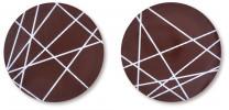 Schoko-Aufleger, rund, sortiert, 28mm, 200 Stück