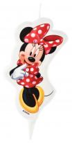 Minnie-Kerze mit Einstecker, im Verkaufsdisplay, 9cm, 6 Stück