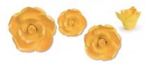 Zucker-Rosen, gold, 17-teilig, 3x 88mm, 3x 65mm, 4x 55mm, 7x 40mm, glutenfrei, 1 Box