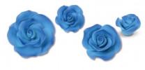 Zucker-Rosen, blau, 17-teilig, 3x 88mm, 3x 65mm, 4x 55mm, 7x 40mm, glutenfrei, 1 Box